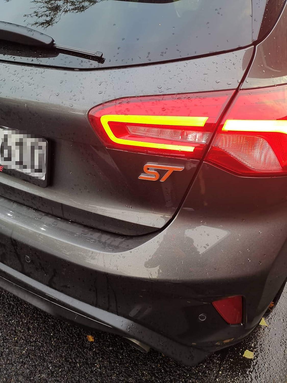 Focus ST MK4 Gel-Embleme Inlay Front+Heck freie Farbwahl Schwarz
