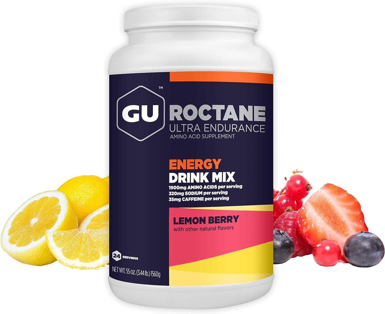 GU Energy Roctane Ultra Endurance Energy Drink Mix, 3.44-Pound Jar, Lemon Berry