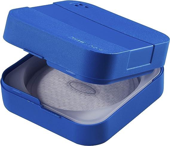 Denticase - Caja de almacenaje higiénica, color azul: Amazon.es: Salud y cuidado personal