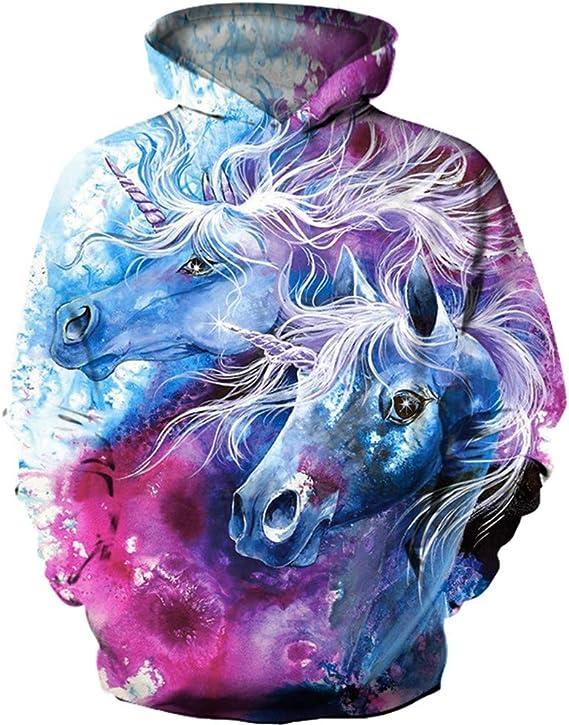 Sudadera infantil con dise/ño de unicornio y estampado 3D