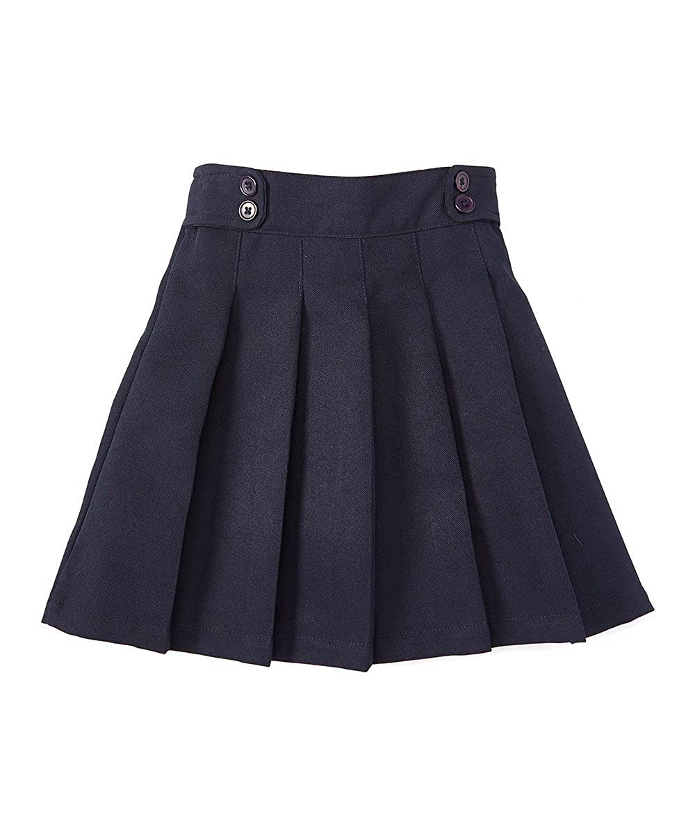 unik Girl Pleated Uniform Skirt Scooter Size 5-16 Navy Khaki Plaid GU07-P