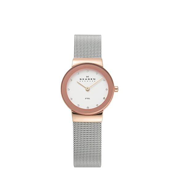 Skagen 358SRSC - Reloj de pulsera mujer, acero inoxidable, color plateado: Amazon.es: Relojes