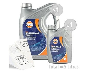 Golfo fórmula G 0 W-30 Aceite de motor totalmente sintético - Service Pack: 5 litros: Amazon.es: Coche y moto
