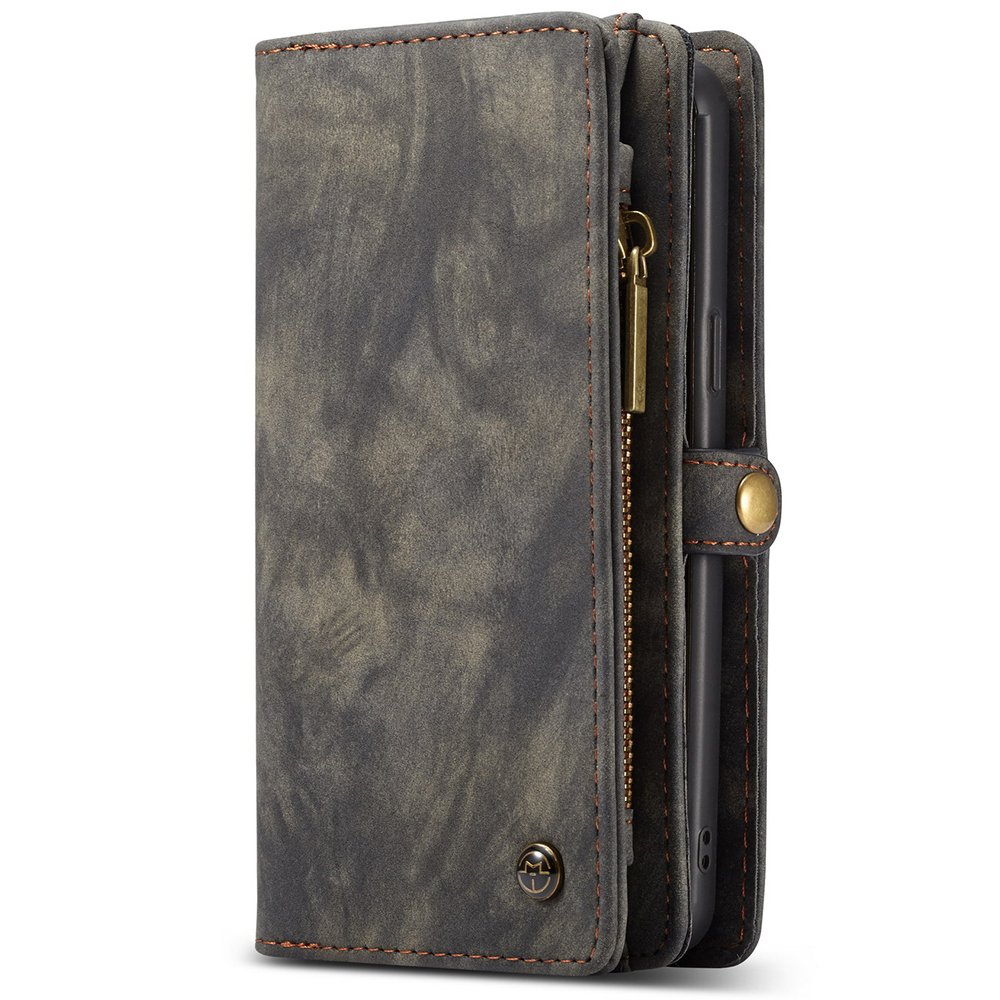 Samsung Note9 Magnetic Detachable Phone Case Wallet Flip Card Cover, Brown FLY HAWK KDS02272-Note9-Brown@#CAGDF