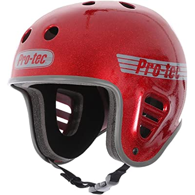 Pro Tec Full Cut Skate Helmet - Red Metal Flake - SM : Sports & Outdoors