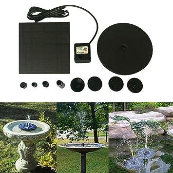 Y56 - Bomba de agua solar flotante, para exterior, funciona con energía solar, para pájaros y baños, ...