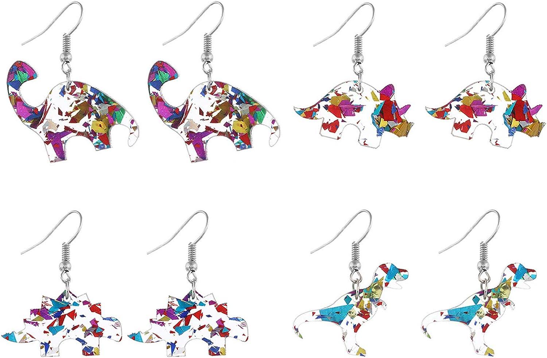 Chunky Resin Dinosaur Earrings