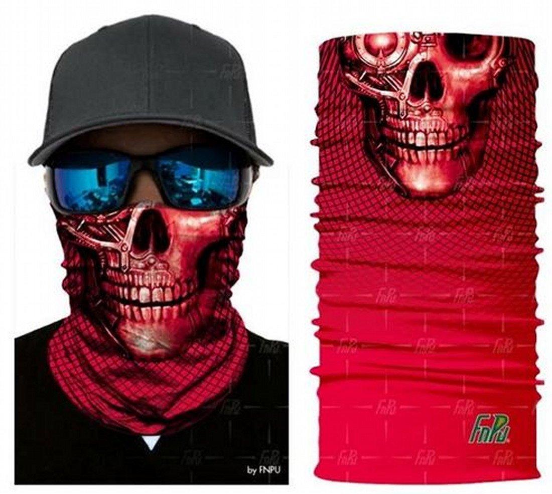 rojo Cráneo Máscara de polvo protectora tubular Pañuelo Motocicleta Bufanda de poliéster Cara Calentador de cuello para snowboard Paintball Esquiar Motocicleta Ciclismo ARUNDEL SERVICES EU
