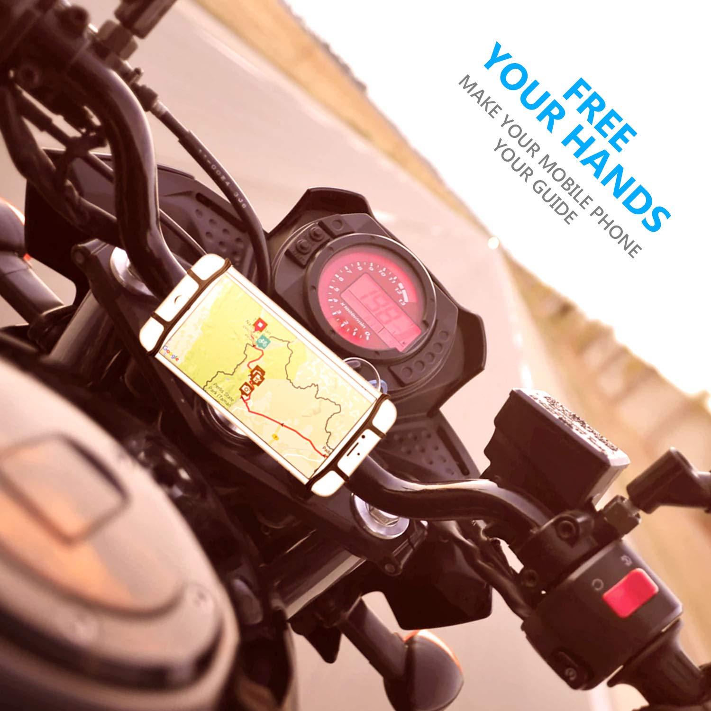 Fahrrad Handyhalterung silikon universal Handyhalterung f/ür Motorrad Fahrrad 4-6 Zoll Handys 360/° drehbar Halterung HOMPO Handyhalterung