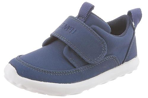 IFME Children's Slip On Velcro Happi Sneakers (11 M US Little Kid, Navy)
