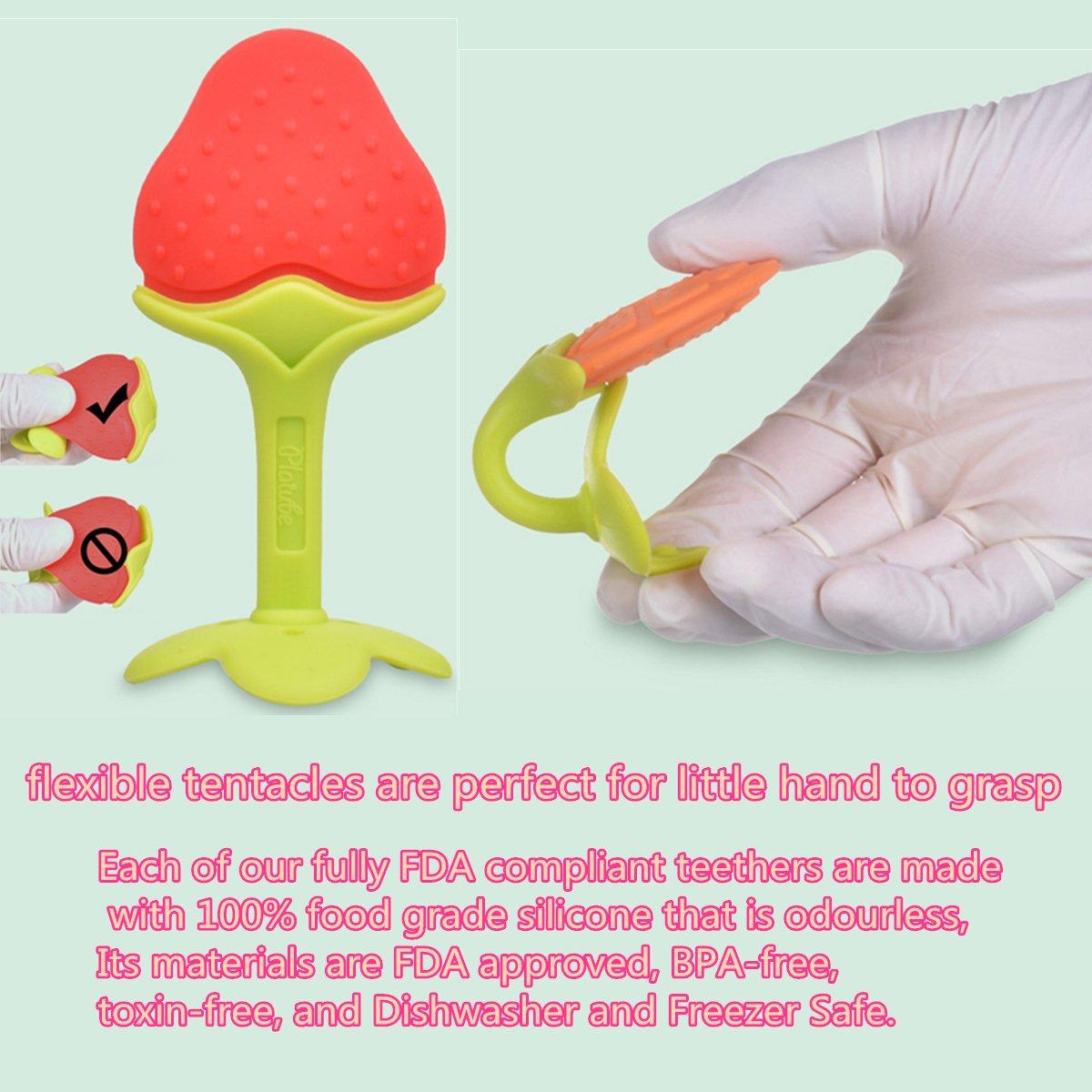 Amazon.com: qici Pack de 4 bebé dentición Juguetes con ...