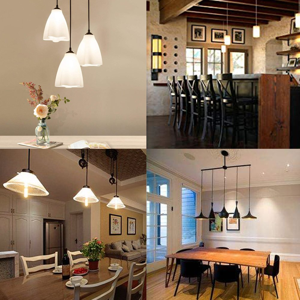 8W Dimmble T10 LED Tubular Bulb Lustaled T10 Vintage LED Filament Lights E26 Medium Base Lamp Daylight 80W Incandescent Replacement for Piano Showcase Home ...