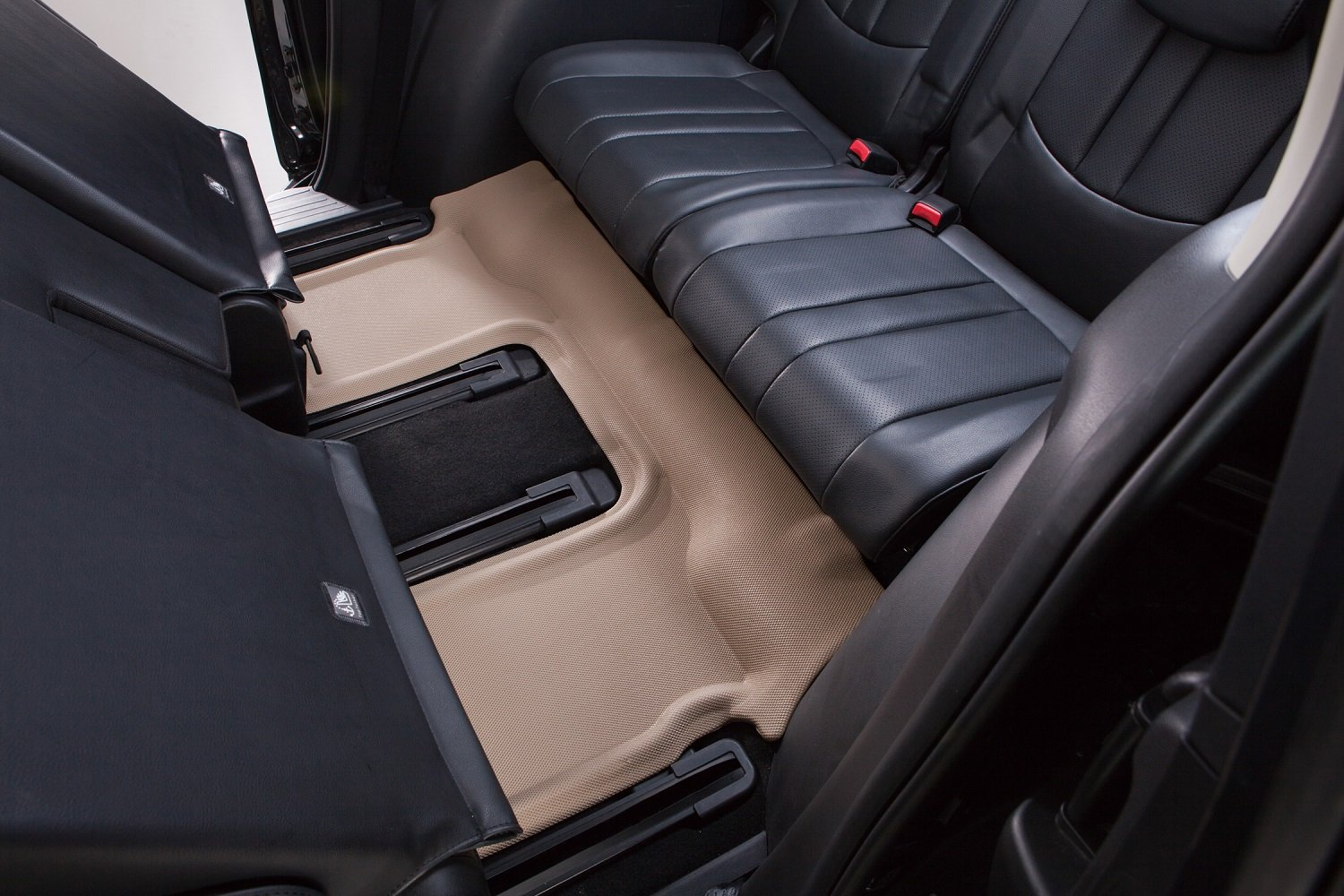 Black 3D MAXpider Front Row Custom Fit All-Weather Floor Mat for Select GMC Acadia Models L1GM02111509 Kagu Rubber