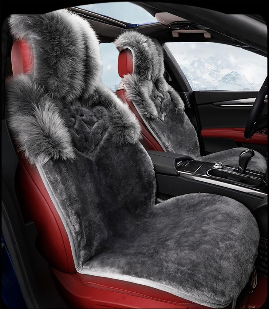 YAOHAOHAO Luxury of natural persons of the wool car seat covers seat covers before & adapt to the rear