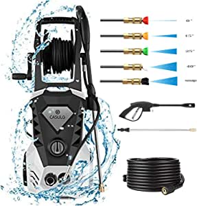 casulo Pressure Washer 3500PSI 2.6GPM High Power Washer with 32ft Cable and 5 Quick-Connect Spray Nozzles for Home, Lawn & Garden [US Stock]