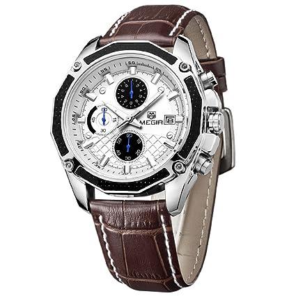QYXANG Reloj de Pulsera para Hombre Sport cronógrafo multifunción 3ATM Resistente al Agua Estilo Famoso Relojes