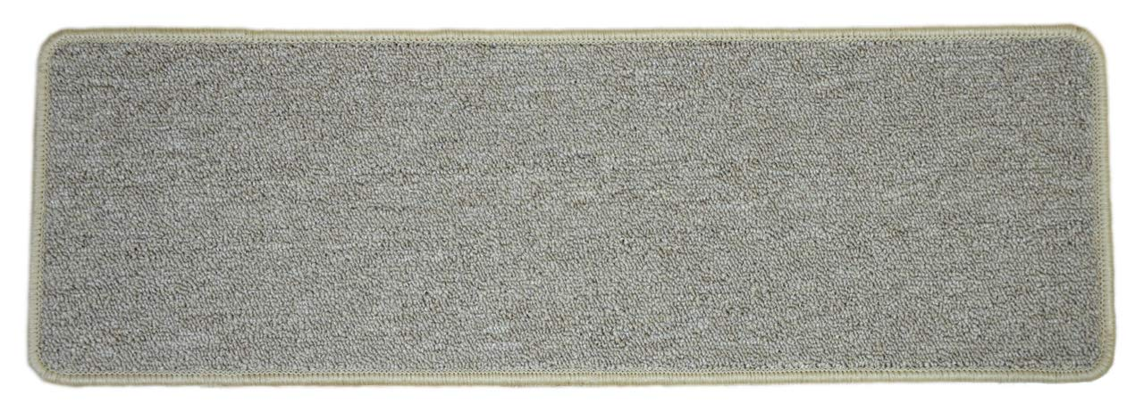 Dean DIY Peel and Stick Serged Non-Skid Carpet Stair Treads - Beige Suede (13) 27 x 9 Runner Rugs Dean Flooring Company ST-BSPS279-020213