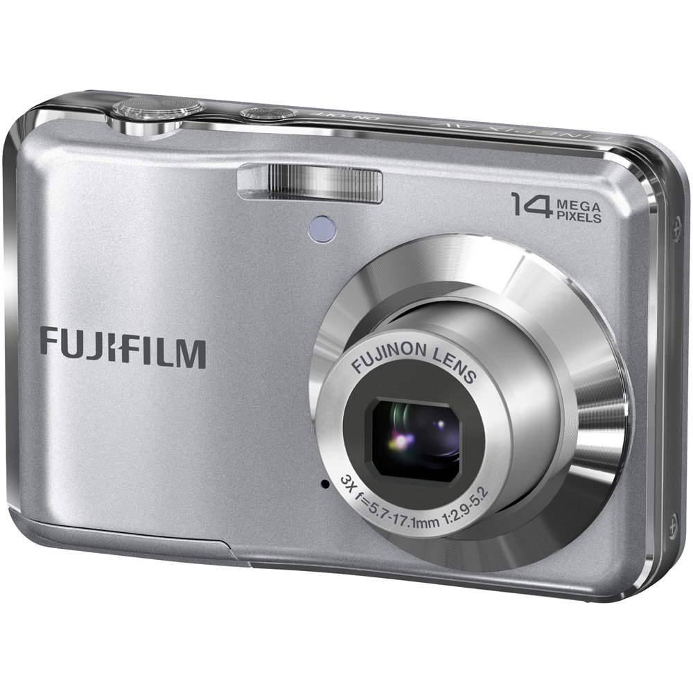 Fujifilm FinePix AV200 14 MP Digital Camera with Fujinon 3x Optical Zoom Lens (Silver) by Fujifilm