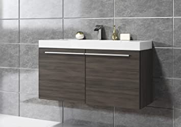 Badmobel 90 Cm ~ Badezimmer badmöbel boston 90 cm eiche dunkel unterschrank schrank