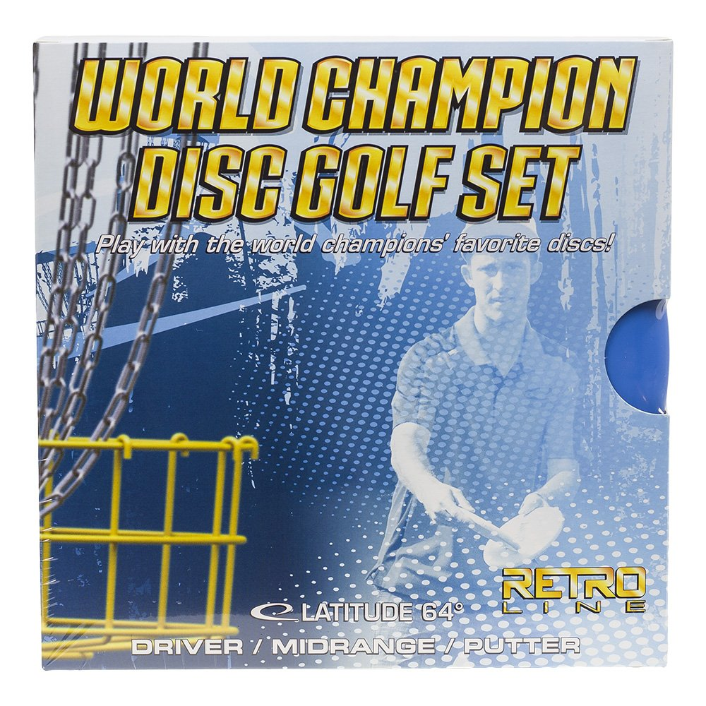 Latitude 64 World Champion Retro Line Disc Golf Starter Set [Disc weights and colors may vary] by Latitude 64