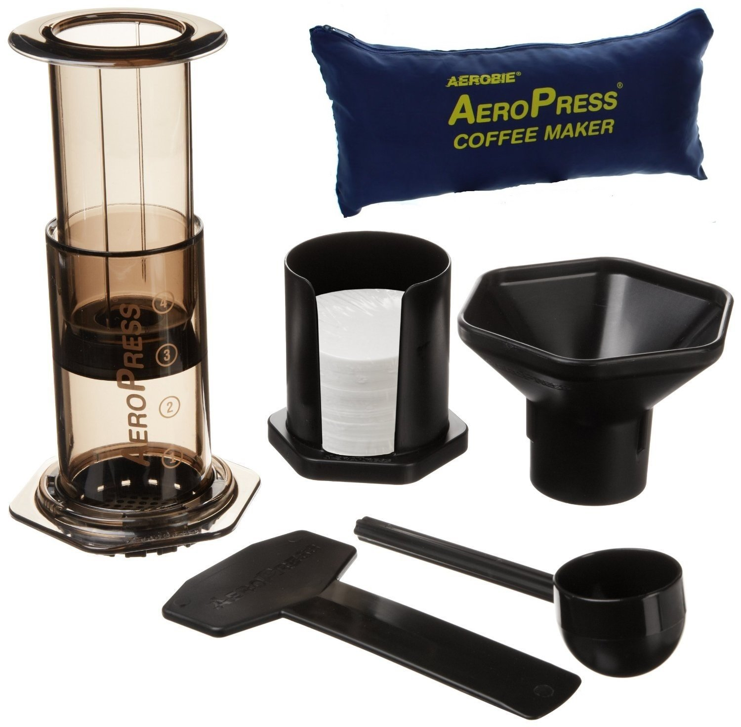 AeroPress 82R08 Coffee Maker with Tote Bag - Black Aerobie AeroPress 82R11