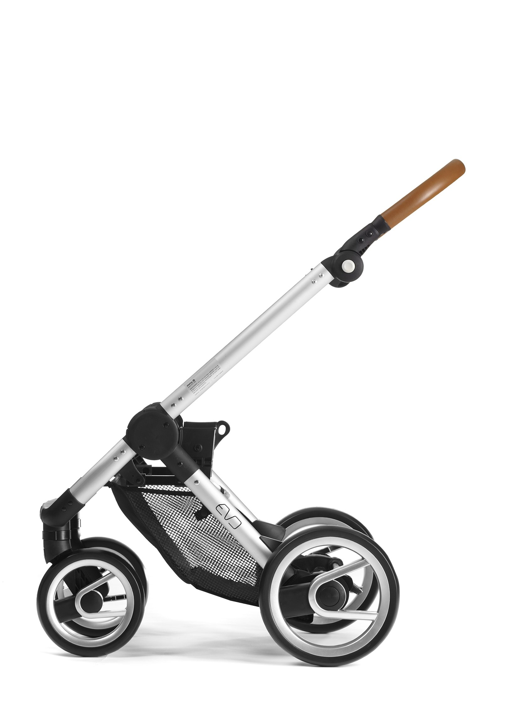 Mutsy Evo Urban Nomad Stroller, Silver Chassis, Light Grey by Mutsy (Image #4)