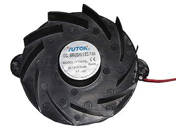 yuton yt9225l 12 V 0,3 A 2 Cable Ventilador de horno de ...