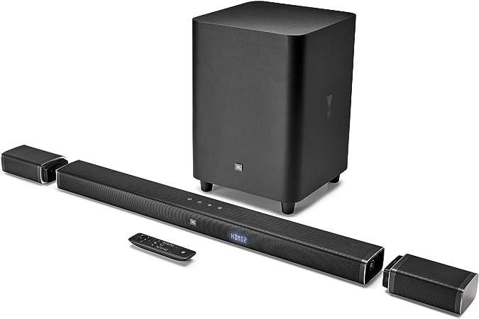 JBL Bar 5.1 - Barra de sonido Ultra HD 4K, con altavoces envolventes inalámbricos , 5.1 Canales, 510 W, Inalámbrico y con cable, negro