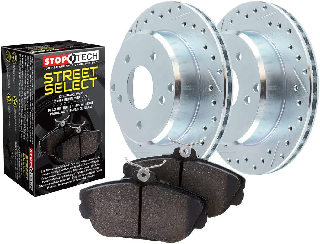 Front Drilled and Slotted StopTech 928.40023 Select Sport Axle Pack