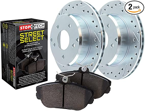 Stoptech 938.42041 Street Axle Pack Drilled /& Slotted Front