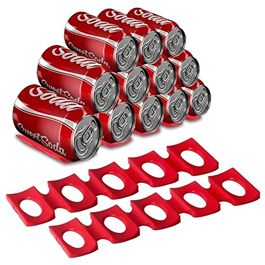 botella y lata fácil apilador, lata de silicona roja soporte de ...