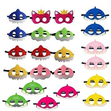 SHANFAA Máscaras de tiburón de 22 Piezas, Máscaras de Fiesta ...
