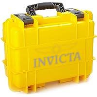 IG0098-RLC8S-Y 8 Slot Yellow Plastic Watch Box Case