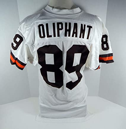 Cleveland Browns Mike Oliphant 89 Game Used White Jersey
