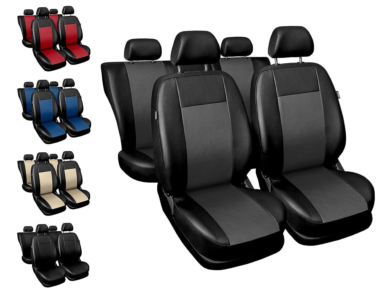 Sitzbezü ge Auto universal Set Autositzbezü ge Schonbezü ge schwarz-rot Vordersitze und Rü cksitze mit Airbag System - Comfort Auto-Dekor