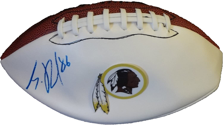 B00D5E1NYU Jordan Reed Autographed Washington Redskins Logo Football W/PROOF, Picture of Jordan Signing For Us, Washington Redskins, Floria Gators, 2013 NFL Draft 71bpwOd4WbL