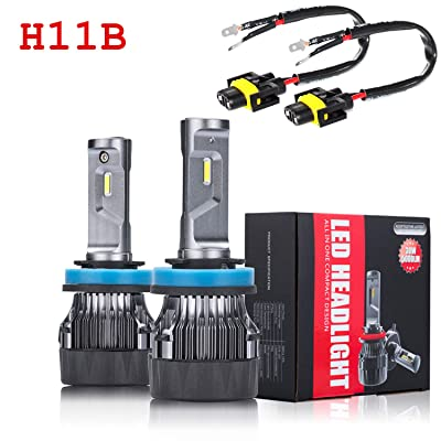 ALLA Lighting S-HCR H11B LED Headlight Bulbs 10000Lms Extreme Super Bright LED H11B Headlight Bulbs Conversion Kits Cool White All-in-One H9B H11B LED Headlamp Replacement …: Automotive