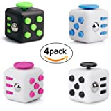 Fidget Cube Toys,Mini Cube Relieves Stress and Anxiety Attention Toy for Work/Class/Home (set of 4)
