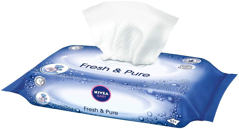 Nivea Baby Fresh & Pure Wet Wipes Chusteczki nawilżone dla niemowląt 63szt: Amazon.es: Salud y cuidado personal