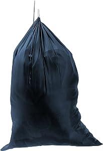 "M&S Gifts Premium Heavy-Duty Nylon Laundry Bag - Clothes Hamper w/Drawstring - Home & College Essentials Navy Blue (29""x40"")"