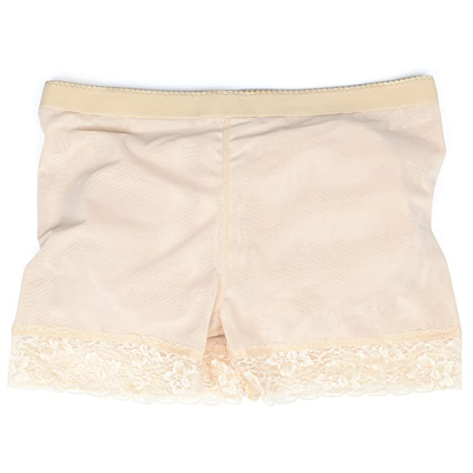 4ed242035b6a7 Queenral Women Padded Control Panties Seamless Lace Butt Hip Enhancer Underwear  Apricot