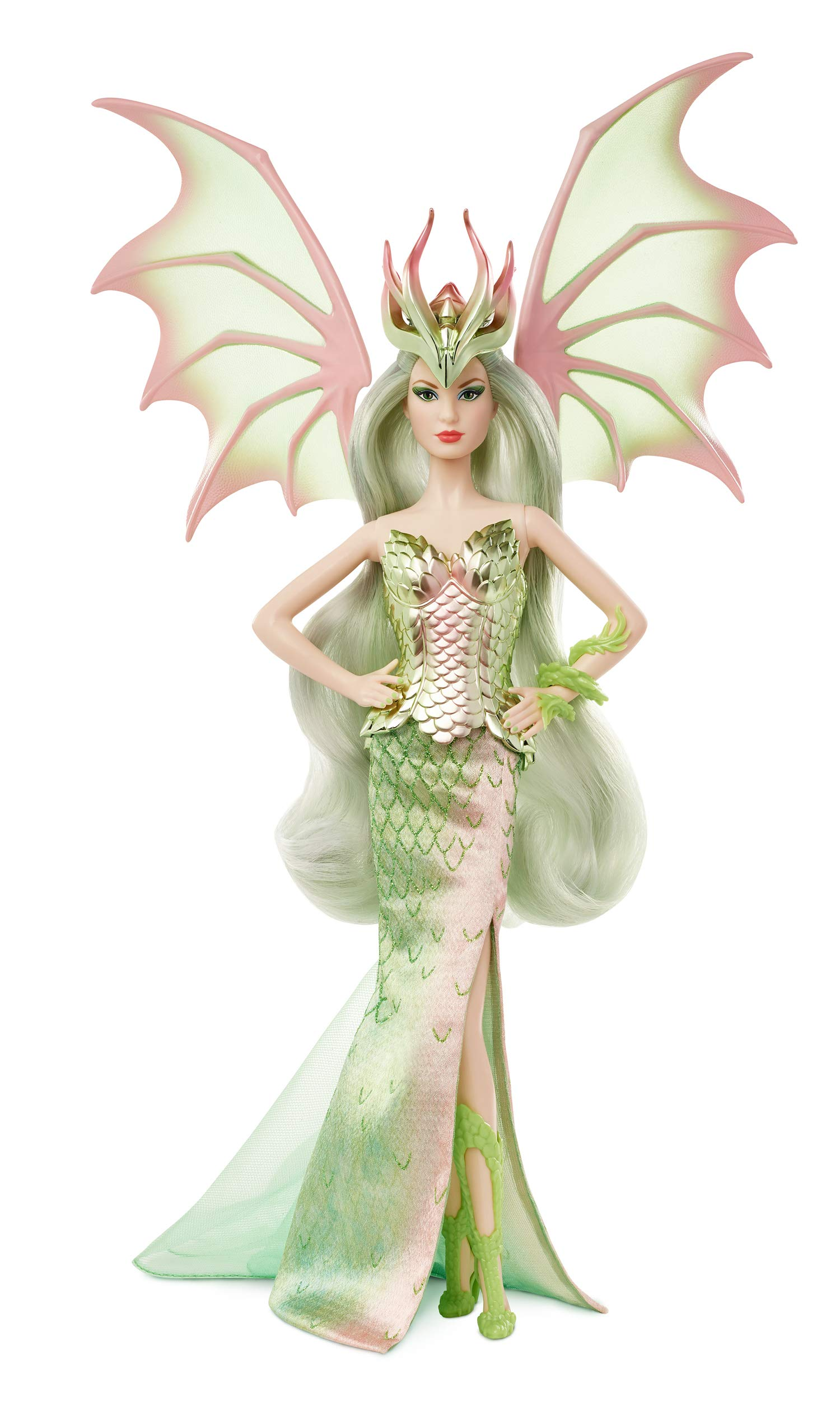 Barbie Signature Mythical Muse Fantasy Dragon Empress Doll, 15-in, Collectible, with Pastel-Colored Hair and Wings