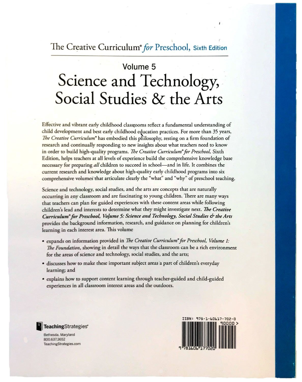 creative curriculum preschool volume 5 science technology social