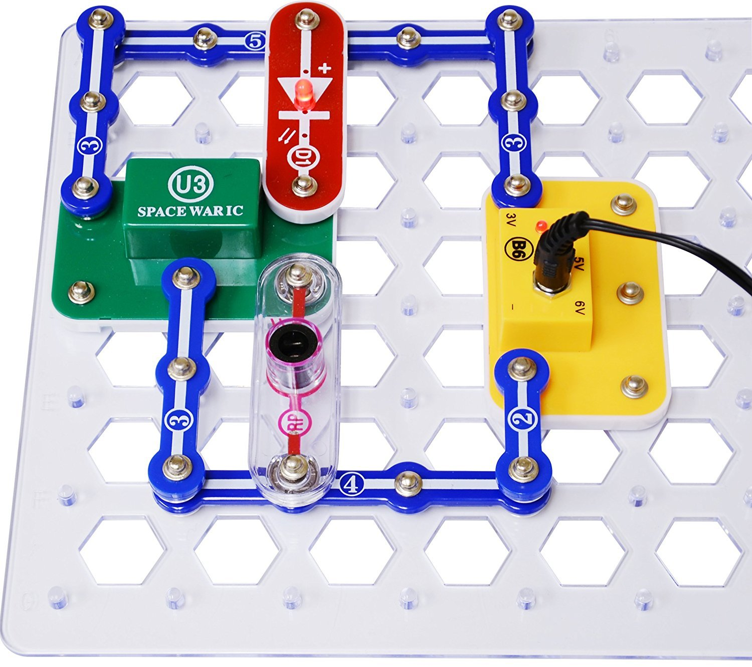 Snap Circuits Elenco Arcade Deluxe Electrical Replacement Motor Top For Engineering Kit With Battery Eliminator Toys Games