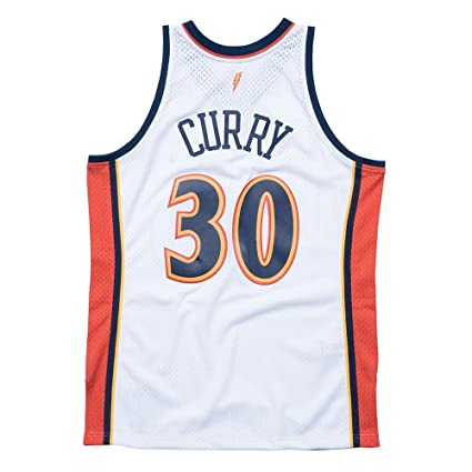 Mitchell   Ness Stephen Curry Golden State Warriors NBA Throwback Jersey  White (Small) b139a0942
