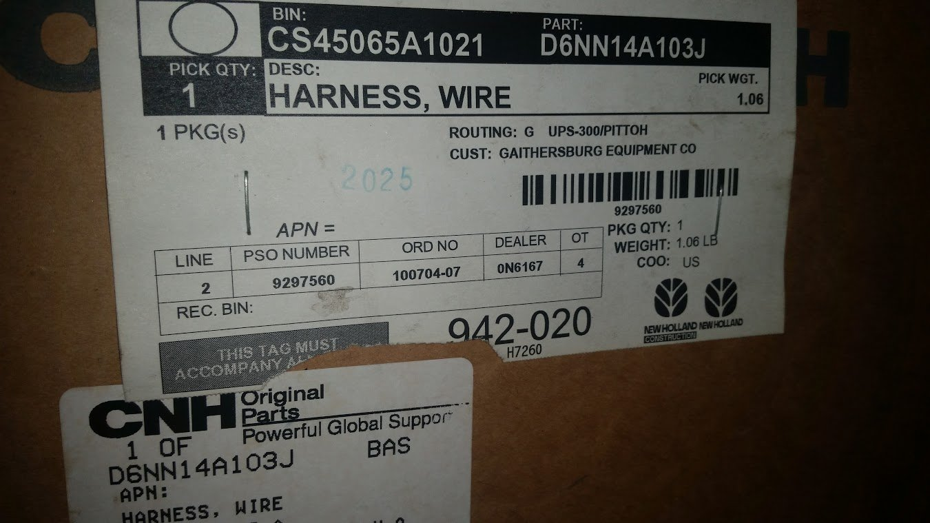 Amazon.com : MT-D6NN14A103J Ford Tractor Wiring Harness 2600 3600 3900 4600  : Garden & Outdoor