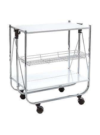 Küchenwagen metall  Tomasucci Kit verschließbarer Küchenwagen, Metall, Weiß: Amazon.de ...
