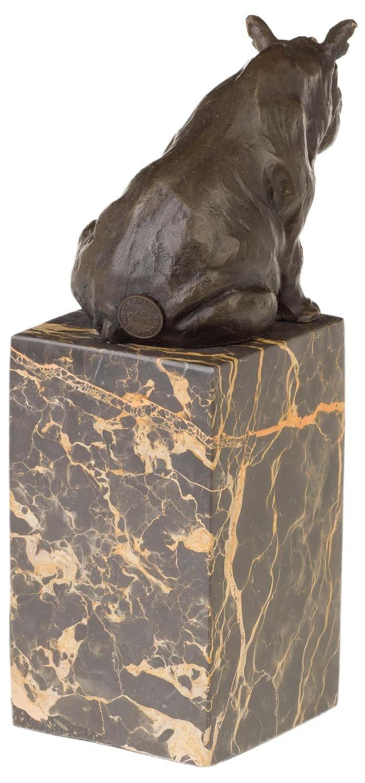 aubaho Bronzeskulptur Nashorn Rhinozeros Bronze Statue Bronzefigur im Antik-Stil 23cm