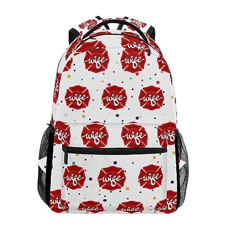 Amazon.com   Stylish Firefighter Wife Backpack- Lightweight School College  Travel Bags, ChunBB 16