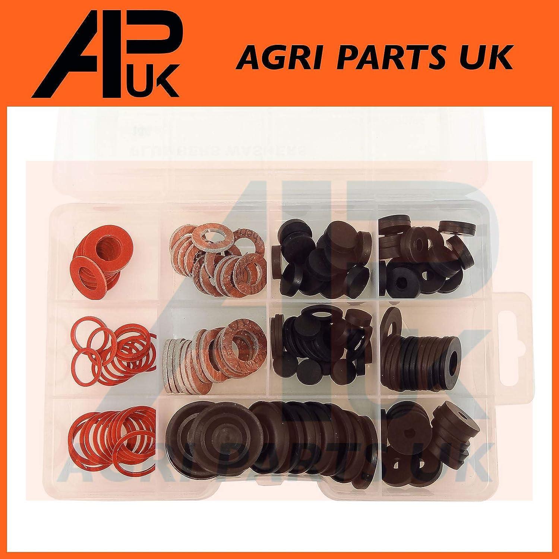144pc Assorted Ball Valve Rubber Fibre Washers Diaphragm Plumbers Repair Box Kit